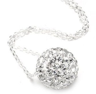 DIAMOND Amazon: Authentic Diamond Color Crystals Ball Pendant + Sterling Silver Chain Only $0.01 + Shipping (Reg. $130!)