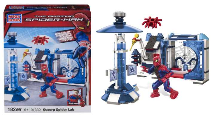 MEGA BLOKS SPIDER MAN Amazon: Mega Bloks Spiderman 4 Oscorp Spider Lab Only $5.99 Shipped (Reg. $14.99!)