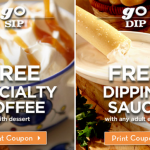 New Olive Garden Coupons! (FREE Dipping Sauce, FREE Speciality Coffee) Total Value of $10.20!