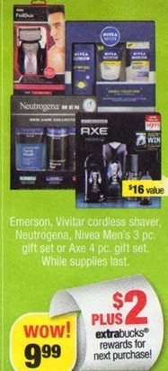 Cvs Axe Gift Sets Only 4 99 Raining Hot Coupons