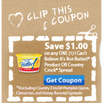 $1 off Can't Believe It's Not Butter and Country Crock!