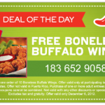 Free Boneless Buffalo Wings at Chili's with Coupon!