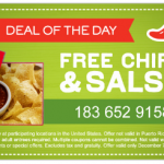 Free Chips and Salsa Coupon at Chili's!