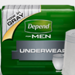 Free Depends Sample Pack