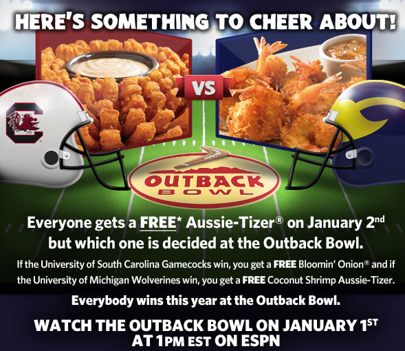 free outback appetizer