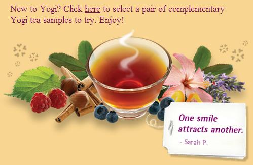 free yogi tea samples