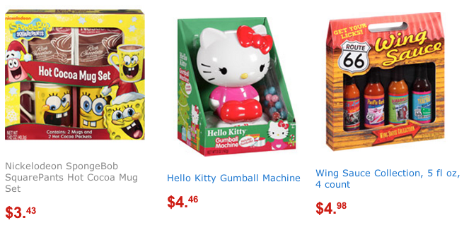 gift sets Walmart Clearance Sales = Hot Cocoa Mug Sets Only $3.43 Shipped and Lots More Gift Sets! (Hello Kitty, Spongebob)
