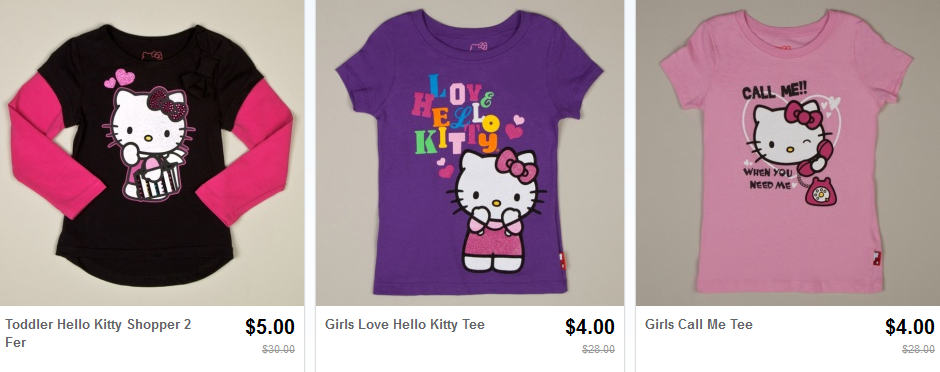 hello kitty shirts on totsy