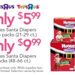 Babies R Us: Huggies Santa Diapers Only $5.99!
