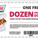 Krispy Kreme: FREE Dozen Original Glazed Doughnuts when you Buy 1 Dozen Coupon (Today Only)