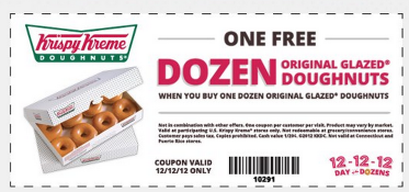 About Krispy Kreme. When you join Krispy Kreme's E-club program, you can get amazing benefits, like promo codes for a free doughnut and coupons for savings on purchases of some of your favorite varieties. When you use Giving Assistant to qualify for these discounts, the money you save can be donated to charity.