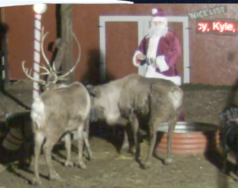 santa claus Watch Santa Feed the Reindeer LIVE!