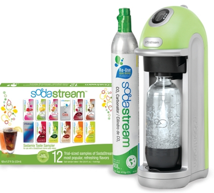 sodastream SodaStream Green SodaStrem Fountain Jet Seltzer Starter Kit Only $70 Shipped (Reg. $130.00!)