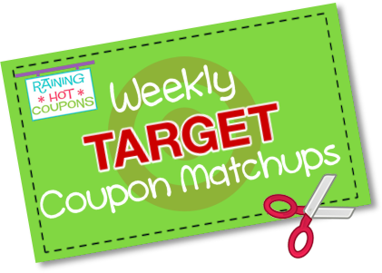 Raining hot coupons money saving deal blog target coupon matchups list here is a list of deals you can get at target using coupons 69 615 fandeluxe Gallery