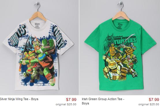 Teenage Mutant Ninja Turtle Boys Shirts Only