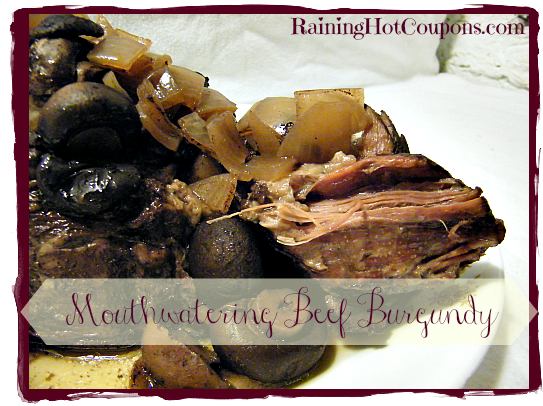 Mouthwatering Beef Burgundy Recipe for the Crock-Pot