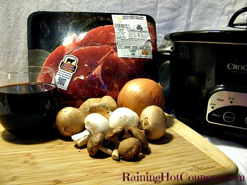 Beef Ingredients Mouthwatering Beef Burgundy Recipe for the Crock Pot