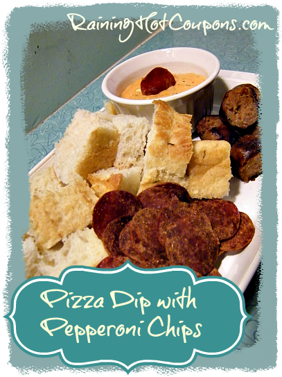 Pizza Dip with Pepperoni Chips Recipe
