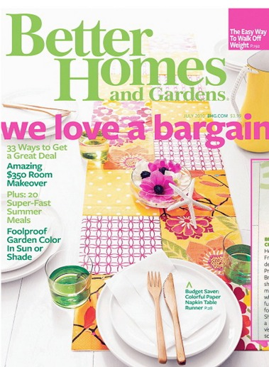 FREE Better Homes and Gardens Magazine 1 Year subscription