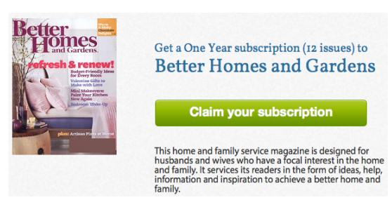 Free 1 Year Subscription To Better Homes And Gardens Live