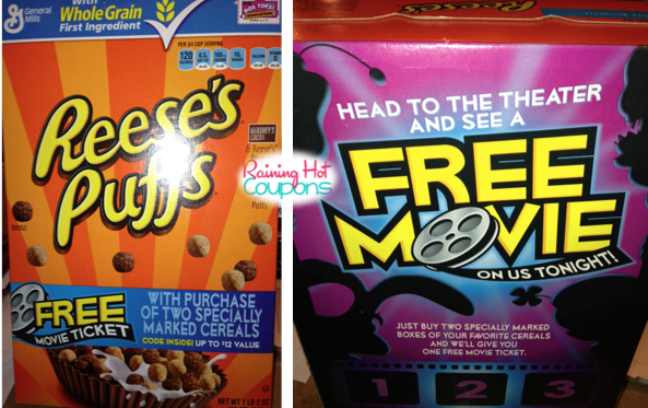 cereal movie tickets