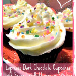 Espresso Dark Chocolate Cupcakes with Frangelico Buttercream Frosting Recipe