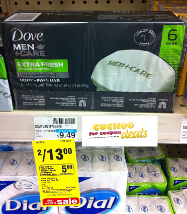 dove men care soapdeal CVS: Dove Men+Care Bar Soap only $0.36 each!