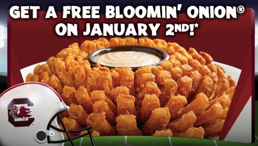 free bloomin onion