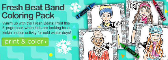 free fresh beat band coloring book