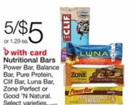 free good n natural bars at walgreens