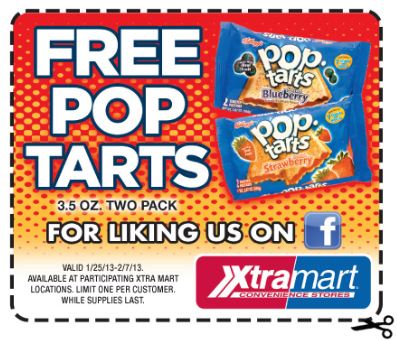 free pop tarts at xtra mart
