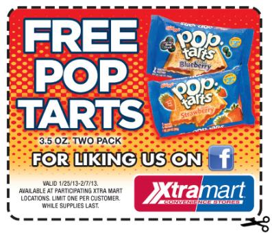 free pop tarts at xtra mart