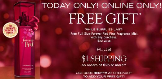 free red perfume bbw