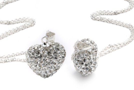 heart2 Amazon: Heart Shaped Crystal Pendant only $.01 + shipping (Reg. $130)