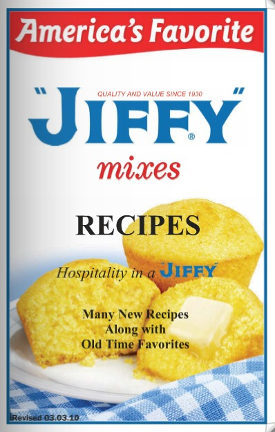FREE Jiffy Recipe Book (Comes in the Mail!)