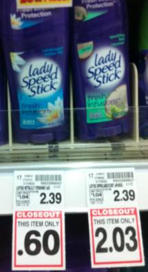 lady speedstick at kroger