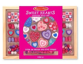 md heart bead set