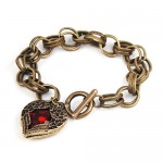 Amazon: Antique Red Stone Heart Shaped Link Bracelet only $3.99 shipped!
