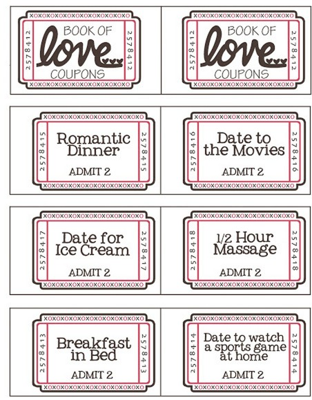 Free ValentineS Day Coupon Booklet Tasks For Significant Other