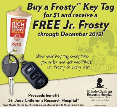wendys frosty key tag