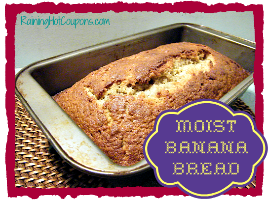 Moist Banana Bread Recipe ~ Simple and the Best You've Ever Had!