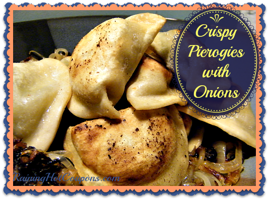 Crispy Pierogies with Onions
