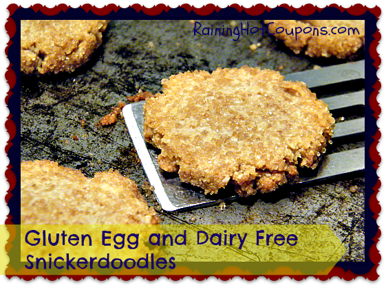 Gluten Egg and Dairy Free Snickerdoodles Main Gluten Egg and Dairy Free Snickerdoodles Recipe ~ Allergen Free and Flavorful!