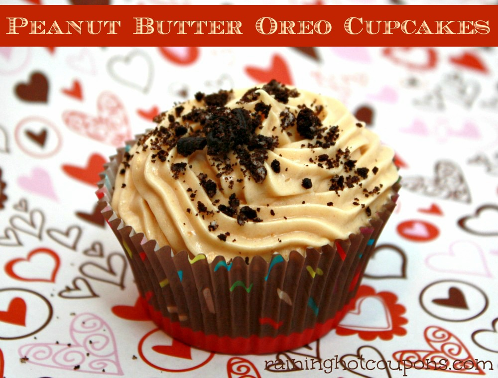 Peanut Butter Oreo Cupcakes
