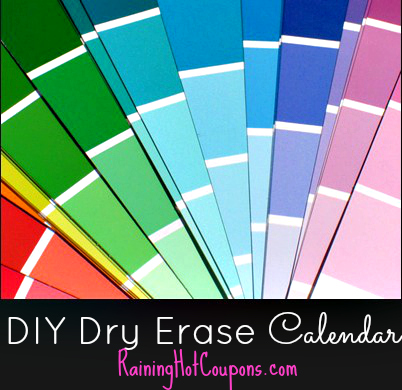 calendar How to Make Your Own Dry Erase Calendar with Paint Chips (SUPER Easy and Frugal)!