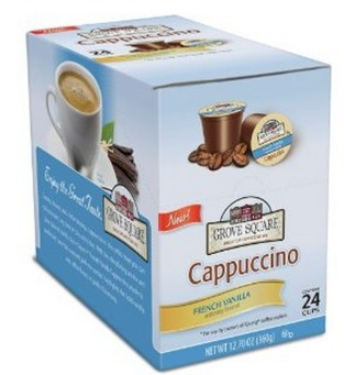 Amazon: 24 pack of Grove Square Cappuccino K Cups Only $0.38 each + FREE Shipping (Stock Up Price)