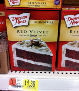 duncan hines cake at walmart Walmart: Duncan Hines Red Velvet Cake Mix only $0.88!