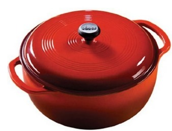 Amazon: 6 Quart RED Lodge Red Color Dutch Oven Only $39.49 (Reg. $118) + FREE shipping