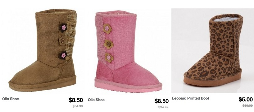 hot totsy girl�s winter boots only 300 shipped reg