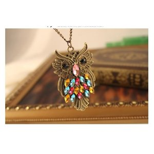 owl Amazon: Antique Crystal Owl Necklace only $2.73 shipped!